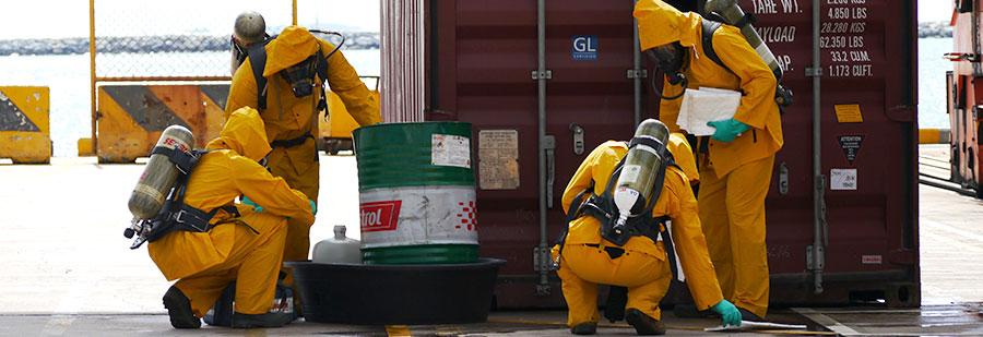 ศูนย์ความปลอดภัยเข้าร่วมฝึกซ้อมแผนสารเคมีหกรั่วไหล และอพยพหนีไฟ กับบริษัท Laem Chabang International Terminal Co.,Ltd. ประจำปี 2557